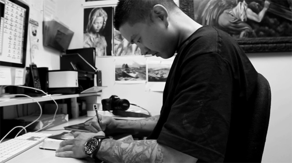 Ink Butter: Black & White: Tattoo Artist Jun Cha (Video)