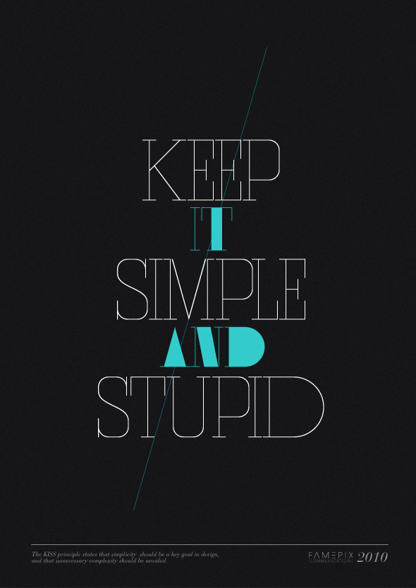 the KISS principle – Keep it simple and stupid » Design You Trust ...