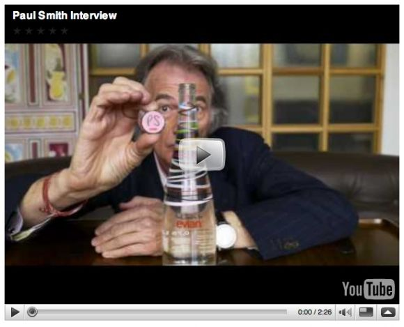 paul Paul Smith x Evian [video interview + widget]