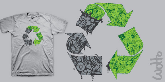 recycle580 01 Incredible T Shirt Doodle Artist: Wotto